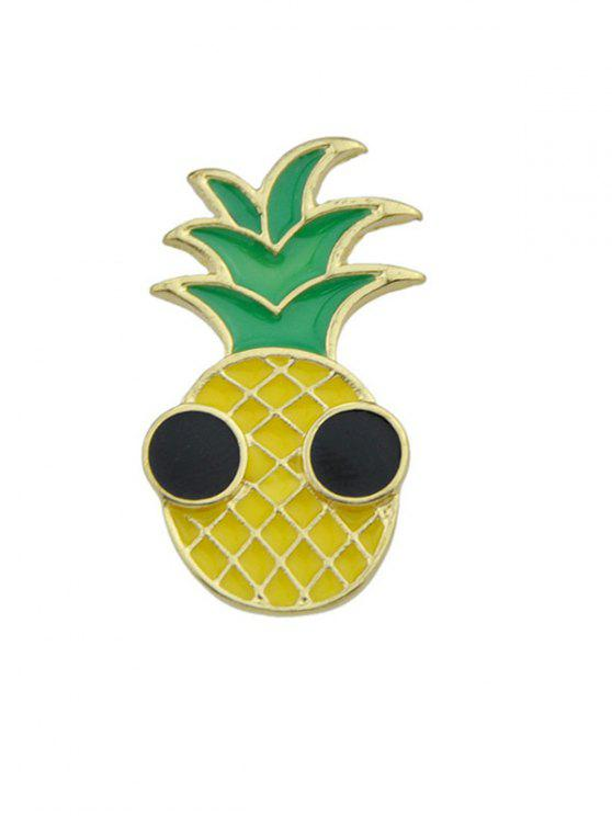 lady Funny Pineapple Fruit Brooch - YELLOW