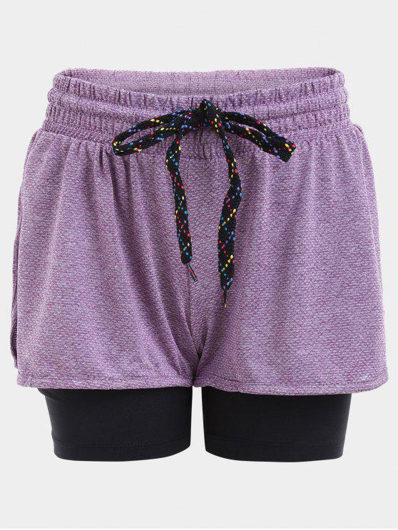 Short Shorts à manches longues - Pourpre L