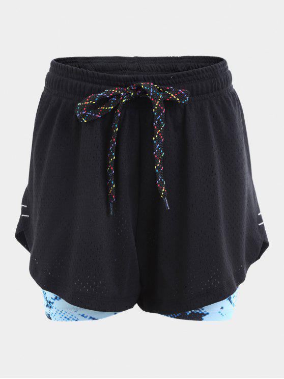 Overlay Straight Shorts Shorts - Azul M