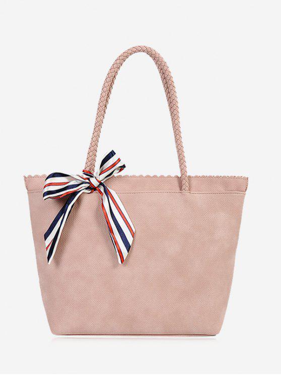 fancy Bow Scallop Shoulder Bag - PINK