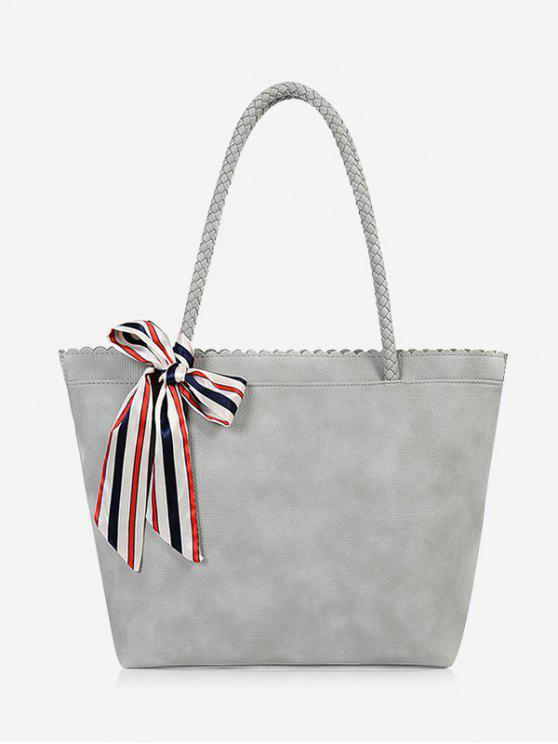 buy Bow Scallop Shoulder Bag - GRAY