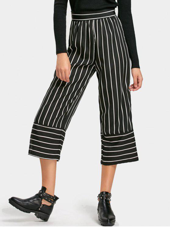 mejor servicio e86c4 26592 Pantalones capri de cintura alta a rayas STRIPE