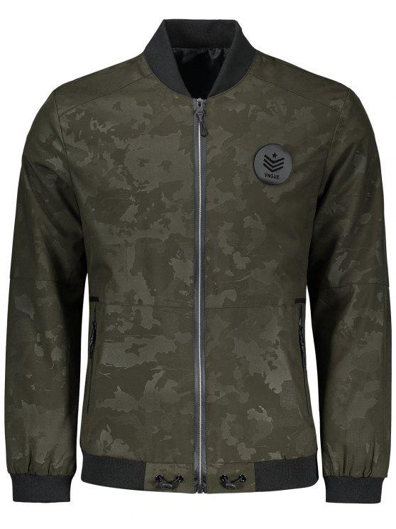 best Zippered Camo Bomber Jacket - ARMY GREEN 3XL