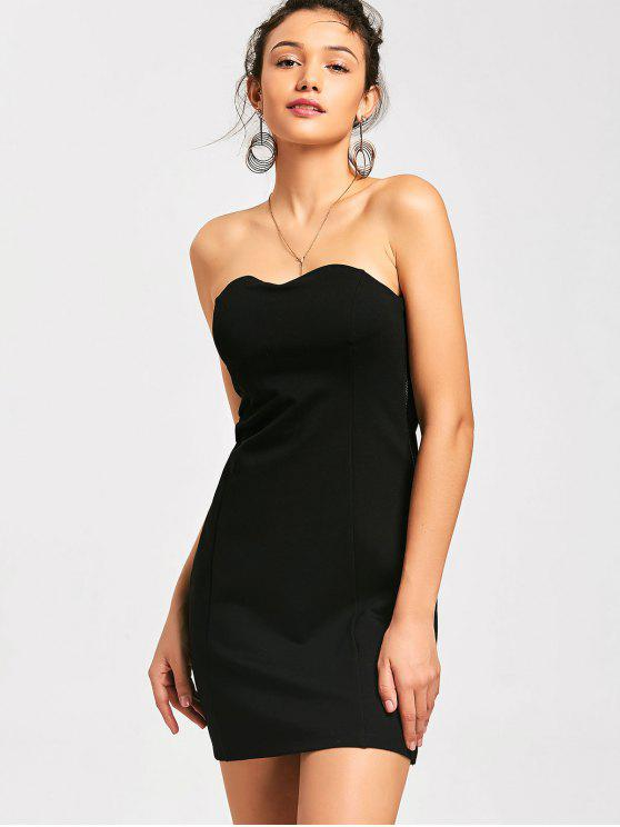 41567e2b49 33% OFF  2019 Side Zip Bodycon Mini Tube Dress In BLACK