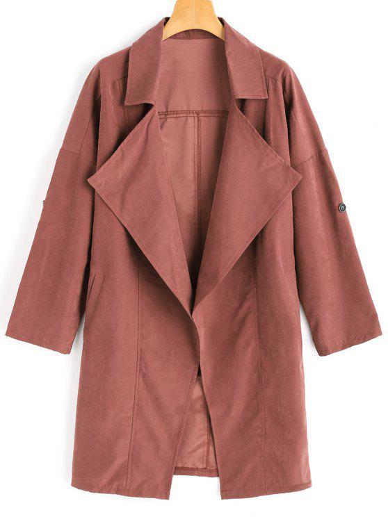 معطف الخندق انخفاض الكتف - قرميد احمر M