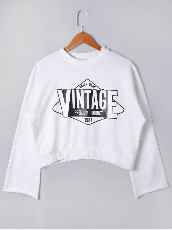 b42c110dae Vintage Cropped Sweatshirt WHITE