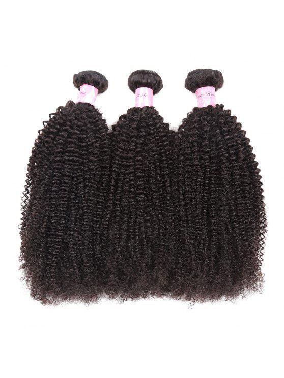1P رقيق الأفرو غريب مجعد الشعر البشري بيرو نسج - أسود طبيعي 10 بوصة