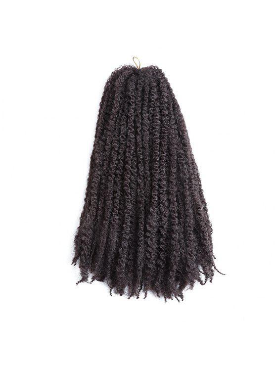 شعر أشقر طويل جدائل الأفرو غريب مجعد الشعر الاصطناعية - بنى