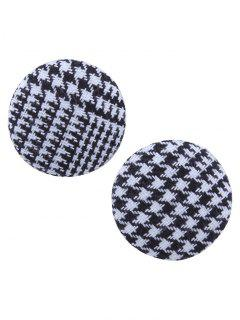 Crochet Round Stud Earrings - Black