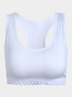Cut Out Racerback Sporty Bra - White S
