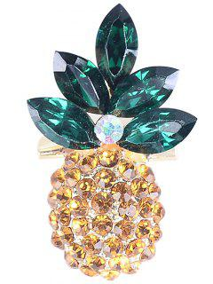 Broche Strass En Forme D'ananas - Jaune