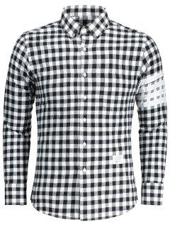 Pocket Checked Shirt - White And Black L