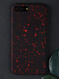 Starry Sky Pattern Phone Case For Iphone - Bright Red For Iphone 7 Plus/8 Plus