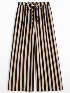 Belted Striped Pants - Stripe