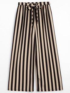 Pantalon Rayé à Ceinture - Rayure