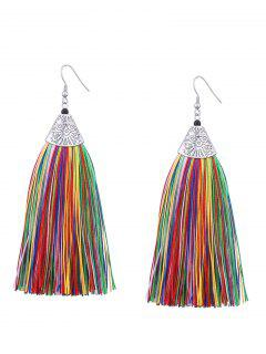 Tassel Engraved Funny Pattern Hook Earrings