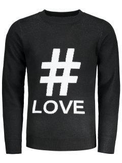 Graphic Love Sweater - Black L