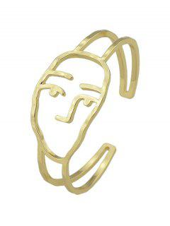Alloy Funny Face Cuff Bracelet - Golden