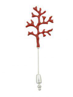 Blood Tree Branch Halloween Brooch - Red