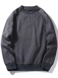 Fleece Crew Neck Sweatshirt - Charcoal Gray M