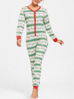 Pijama Impreso De Una Pieza De Navidad - M