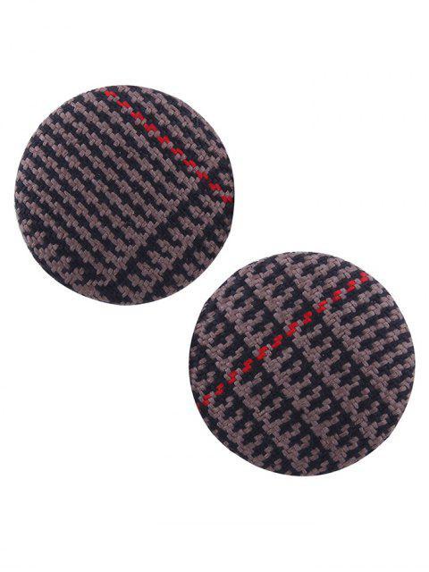 affordable Crochet Round Stud Earrings - DEEP BROWN  Mobile