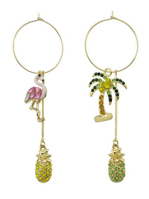 Árbol de coco Famingo Big Hoop Earrings - Rosa  Mobile