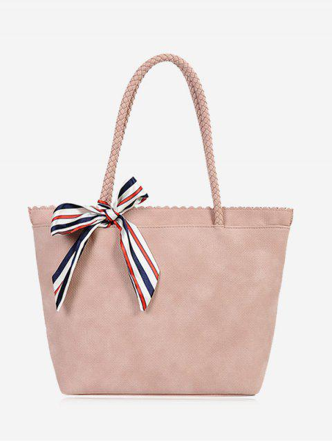 fancy Bow Scallop Shoulder Bag - PINK  Mobile