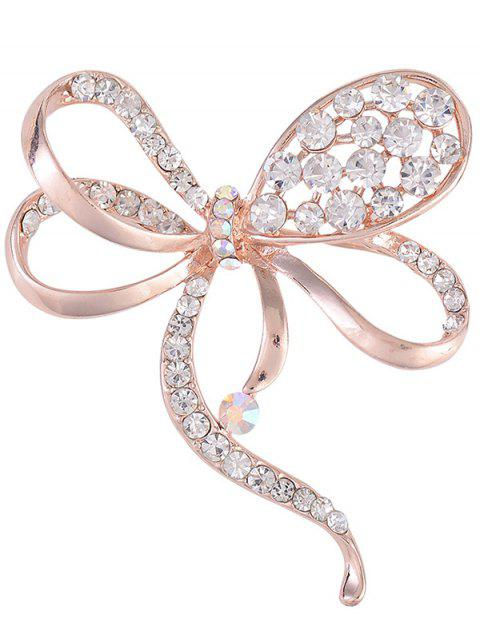 outfit Rhinestone Hollow Out Bowknot Brooch - ROSE GOLD  Mobile