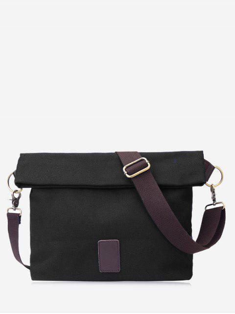 trendy Badge Canvas Crossbody Bag -   Mobile
