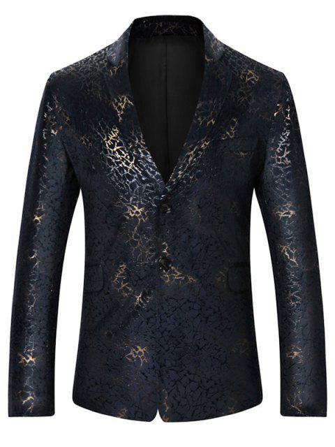 Metallic Brocade Printed Slim Fit Blazer - Multicolore XL Mobile