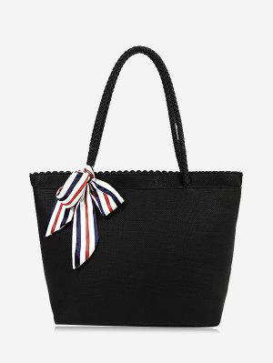 Bow Scallop Shoulder Bag