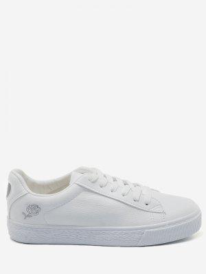 Costura zapatos de skate floral