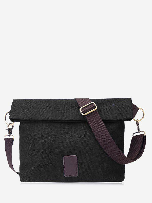 Badge Canvas Crossbody Bag