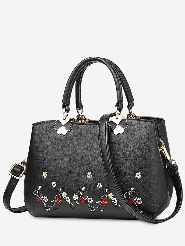 Embroidery Metal Flower Tote Bag 229777404