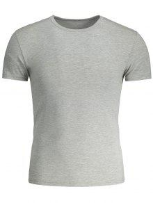 Camiseta Gris Manga Y De Corta Delgada 3xl Wxw8Zz0qwT