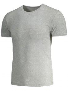 Gris De 3xl Delgada Corta Y Camiseta Manga WgnxaZUwq
