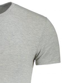 3xl Corta Camiseta Manga Delgada Gris Y De wTa61YqxR