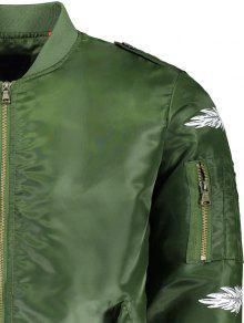 Verde La Chaqueta 243;n Pluma 6xl De Impresi Del La Bombardero De axzqTfa
