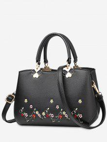 Embroidery Metal Flower Tote Bag
