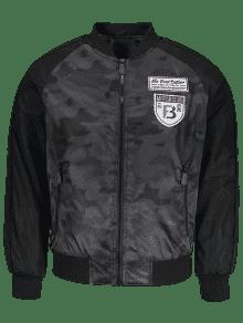 Bomber Patch Jacket 3xl Gris Camo Fv01nx0
