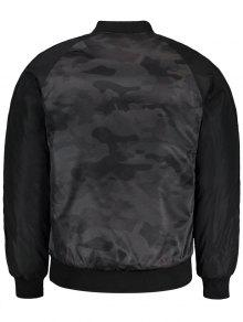 Bomber Jacket Gris Patch 3xl Camo p5qx7wOn