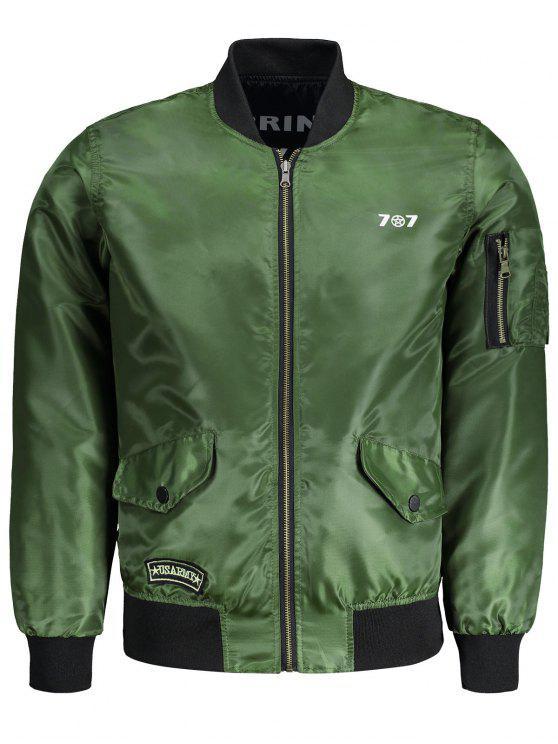 جاكيت الطيار ذو وجهين للرجال - الجيش الأخضر 2XL