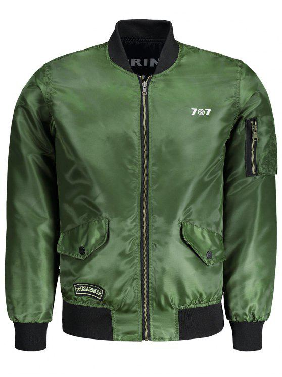 latest Mens Reversible Bomber Jacket - ARMY GREEN XL