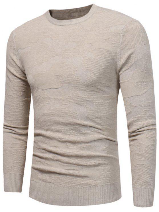 Suéter de corte irregular - Caqui M