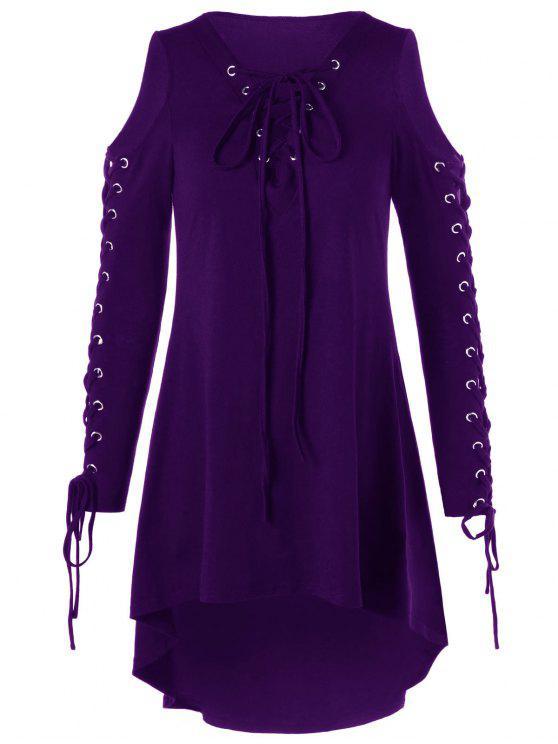 فستان الحجم الكبير باردة الكتف - اتفاق 2XL