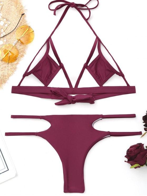 Bikini découpé à la bralette - Bourgogne S