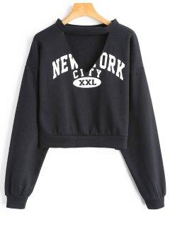 Sweat-shirt à Rayures - Noir S