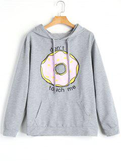 Dont Touch Me Graphic Hoodie - Gray S