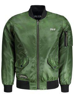 Mens Reversible Bomber Jacket - Army Green Xl